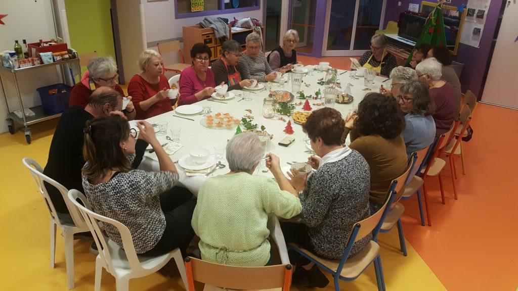 Photo: Repas de Noël des Rendez-Vous en cuisine